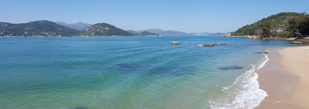 Bild eines Strandes auf der Insel Cheung Chau