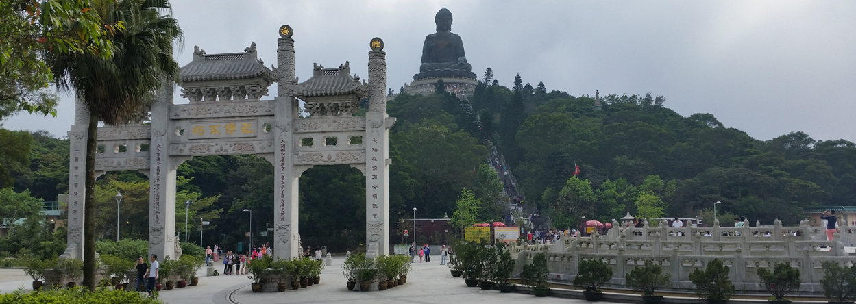 Bild vom Tian Tan Buddha auf Lantau Island