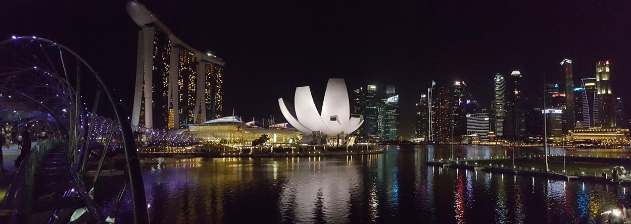 Bild von Singapur bei Nacht
