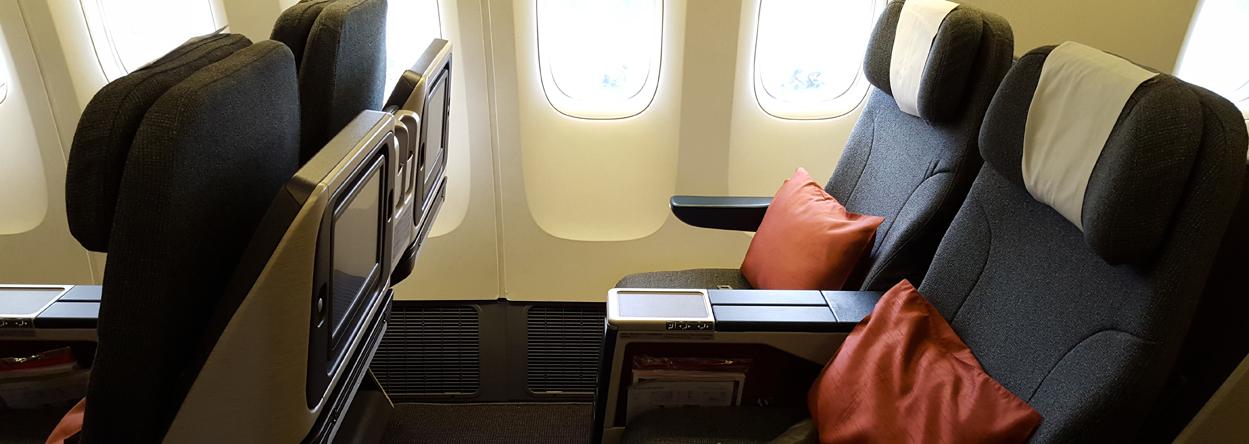Bild der Regional Business Class von Cathay Pacific