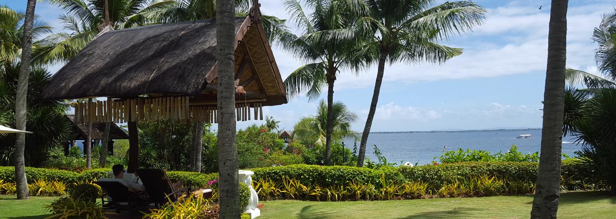Bild zeigt unseren Lieblingsplatz im Shangri-La Hotel