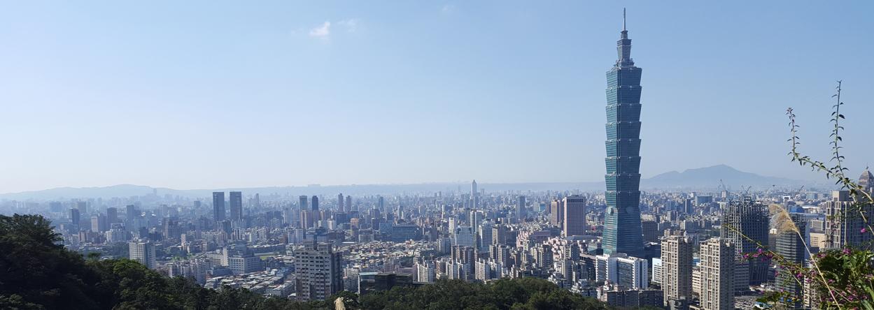 Foto von Taipei mit dem Taipei 101