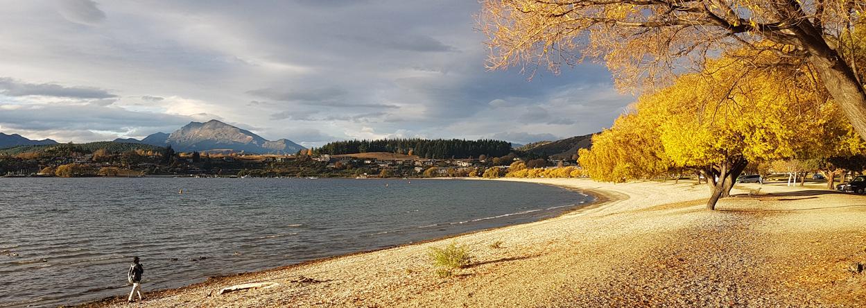 Bild vom Lake Wanaka bei Sonnenuntergang