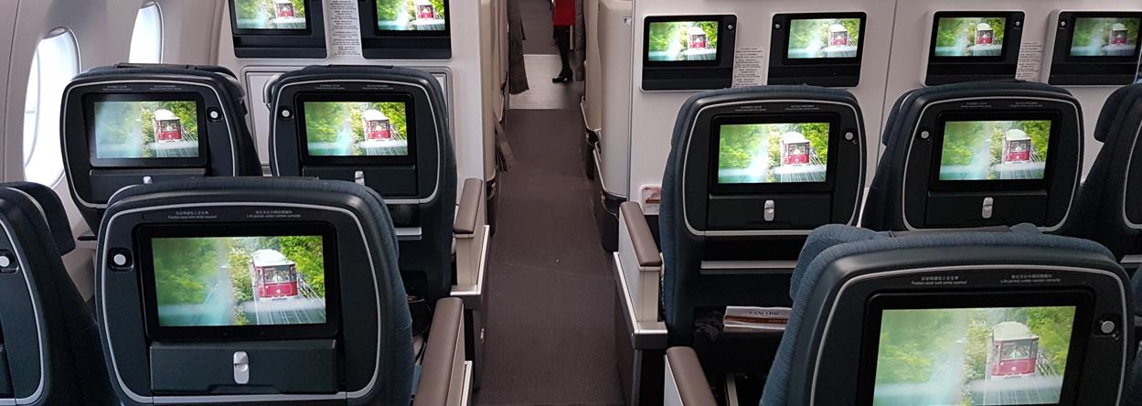 Bild aus der Premium Economy Class in der A350