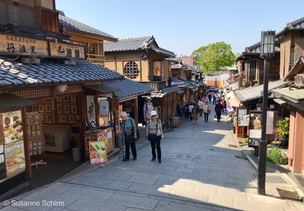 Ninen-zaka im Süden des Stadtteils Higashiyama