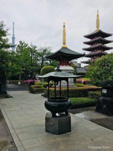 Pagoden am Senso-ji Tempel