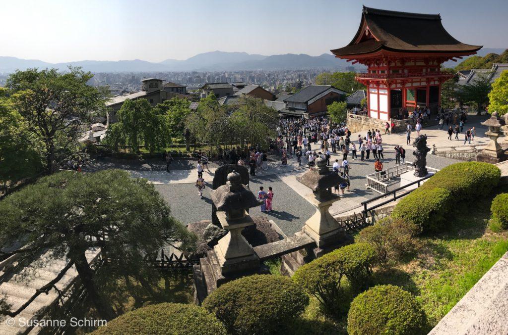 Blick vom Kiyomizu-dera auf Kyoto
