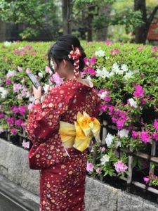 Junge Japanerin im Kimono