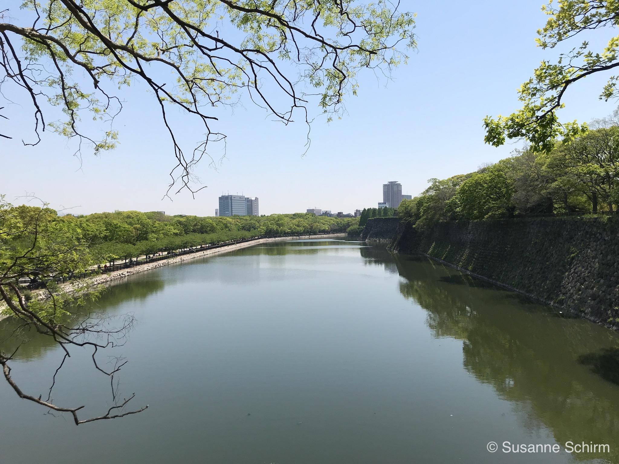 Bild vom Burggraben am Osaka Castle