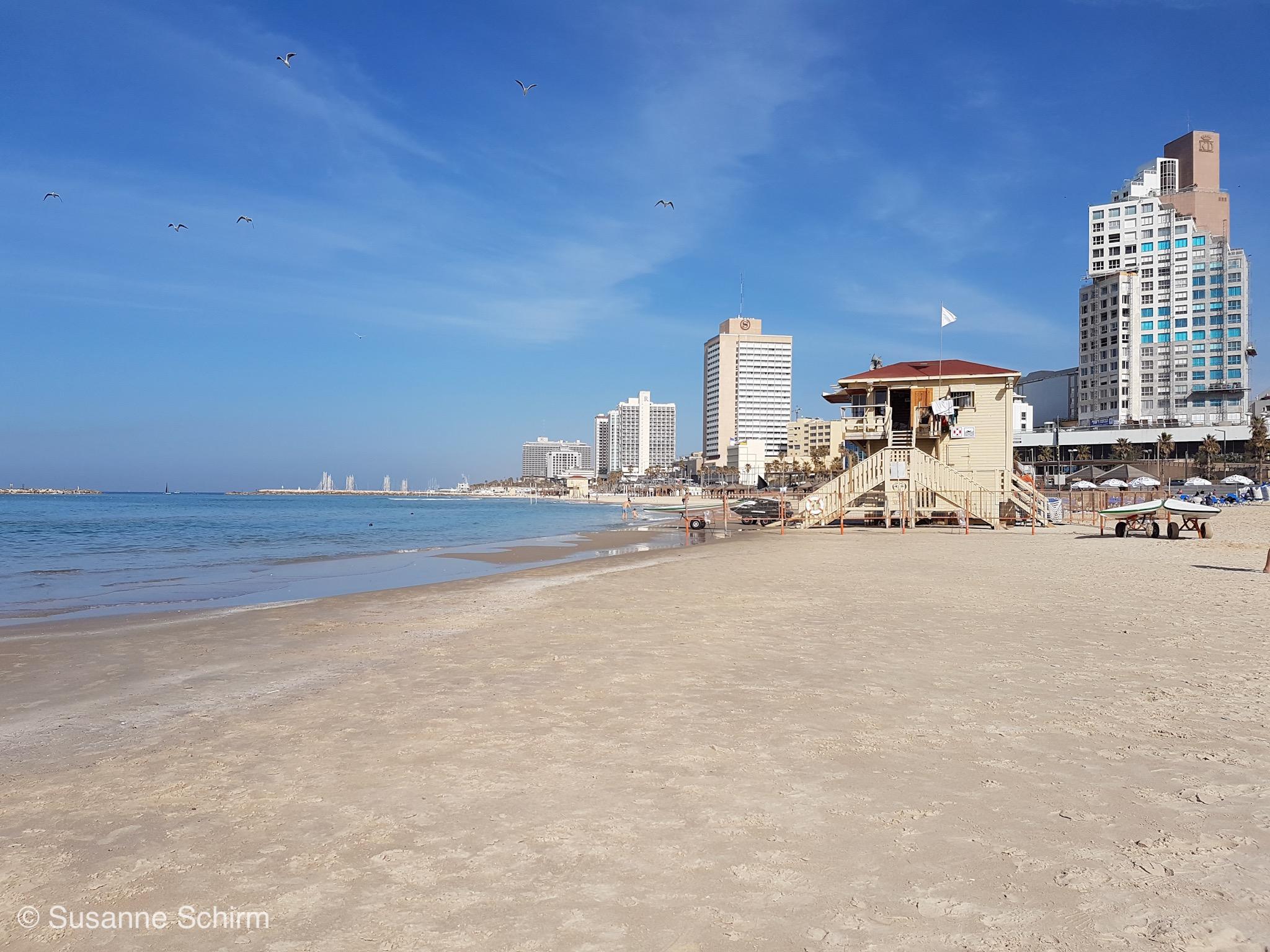 Bild vom Strand in Tel Aviv