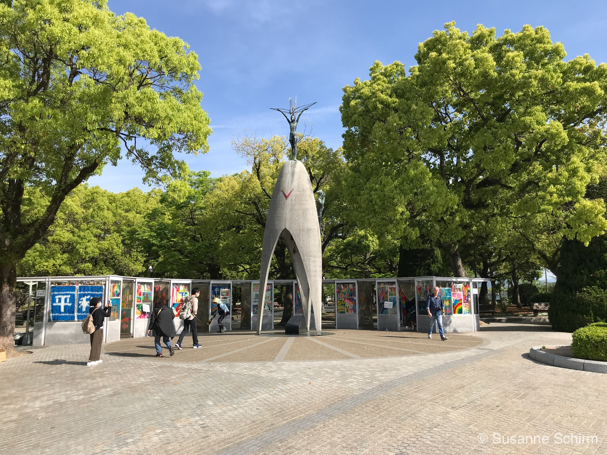 Bild vom Kinder-Friedensmonument in Hiroshima