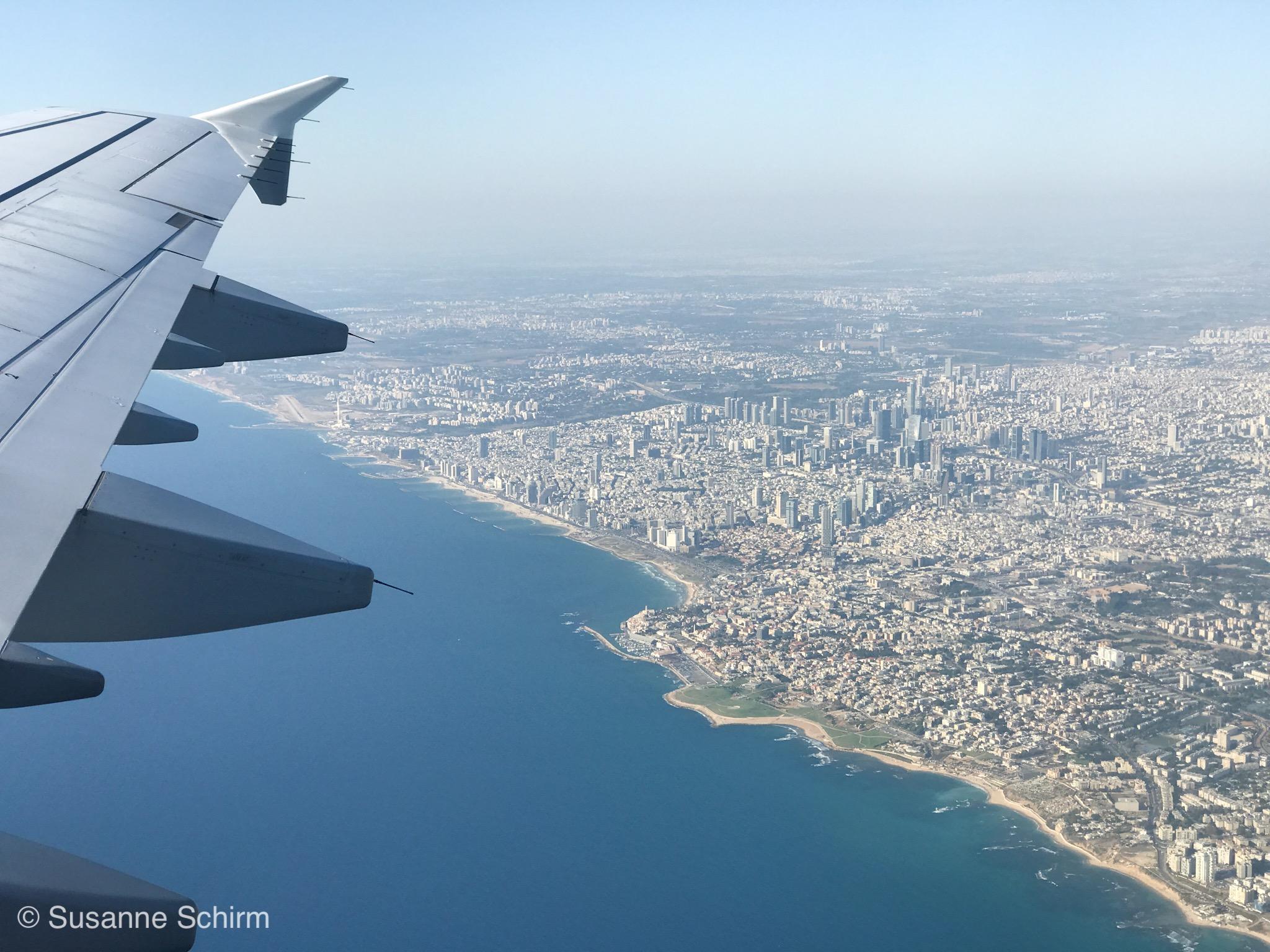 Bild von Strand und Skyline in Tel Aviv