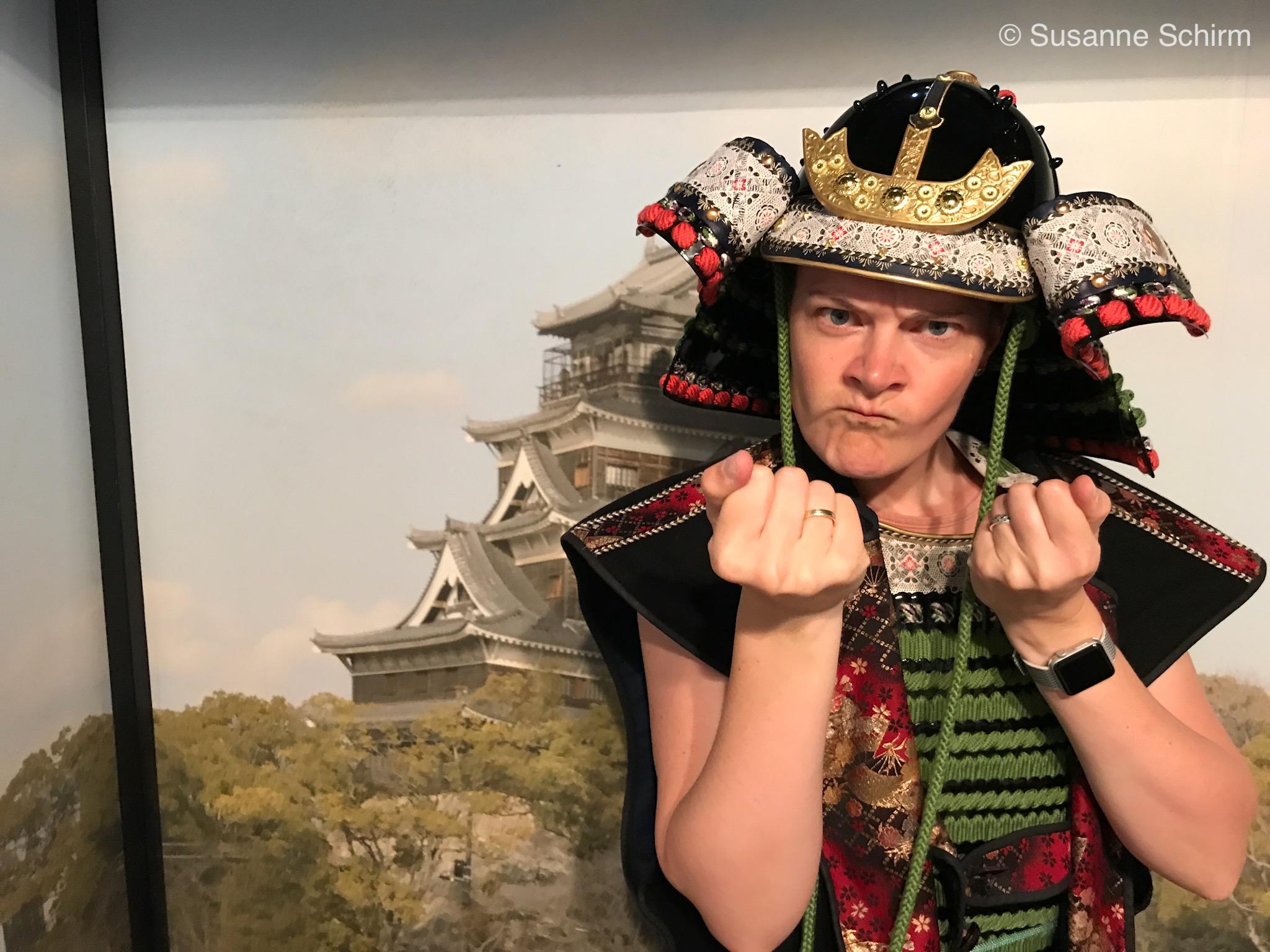 Bild von mir in Samurai-Kostüm