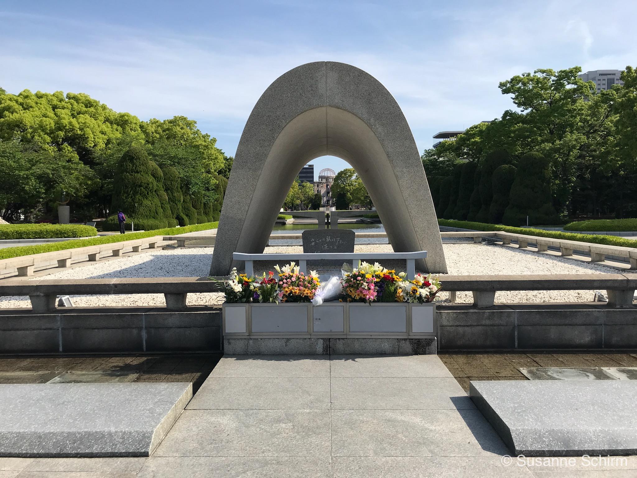 Bild vom Kenotaph in Hiroshima
