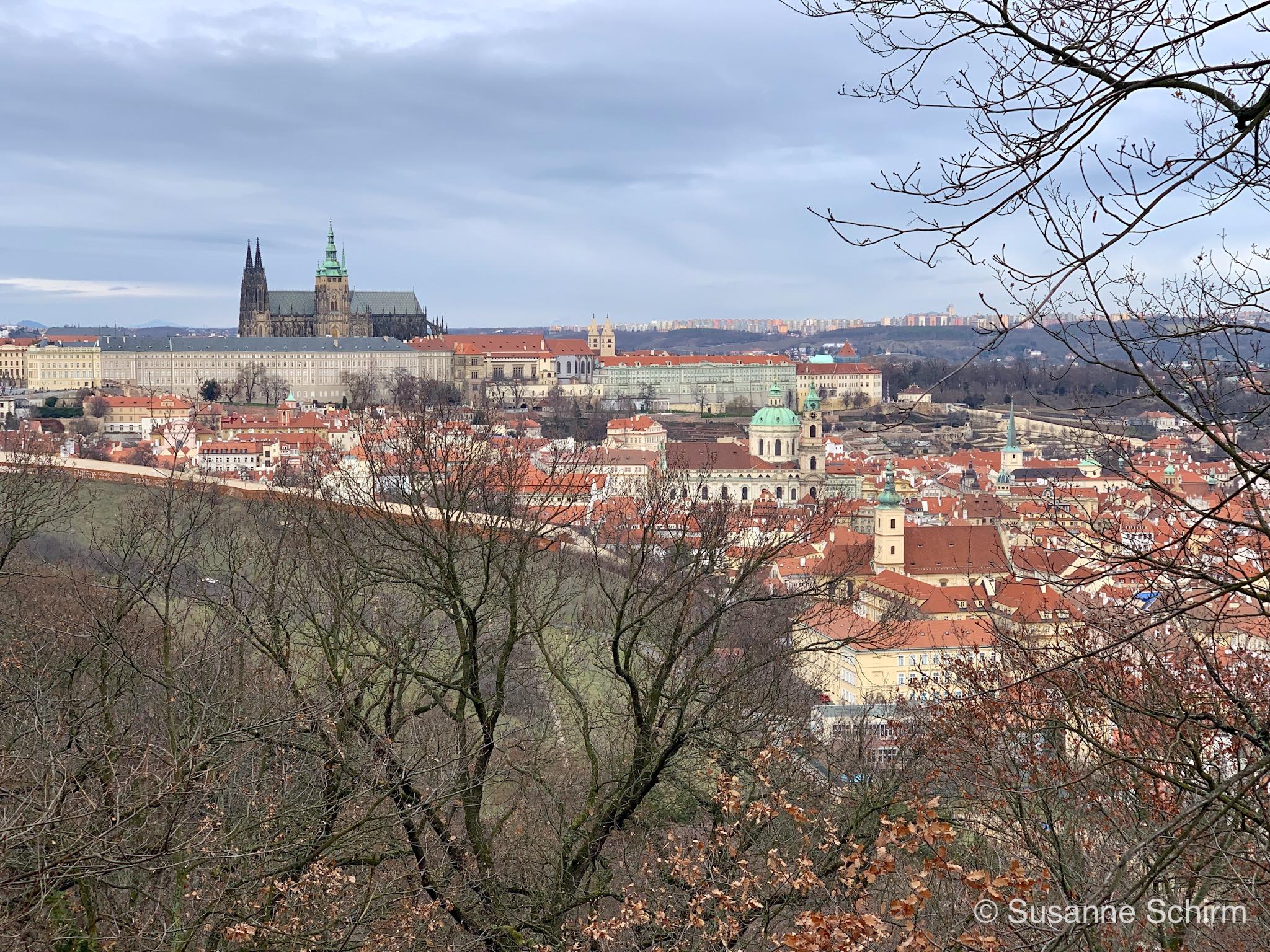 Prag mit Blick auf die Burg