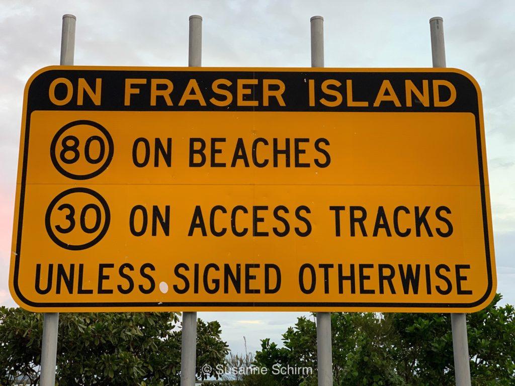 Geschwindigkeitsregeln auf Fraser Island